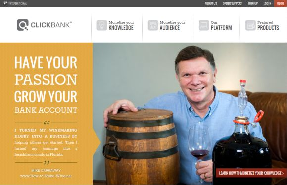 Clickbank homepage