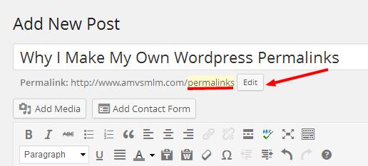 Permalinks editor