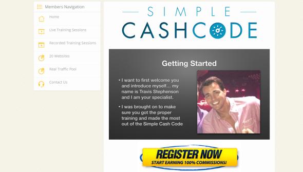 Simple Cash Code Members Area