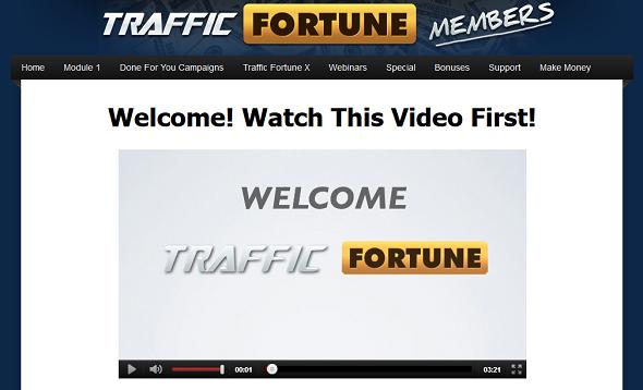 traffic fortune members area