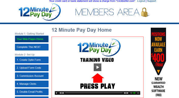12 minute pay day members