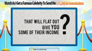 Celebrity Income Snatchers sales page