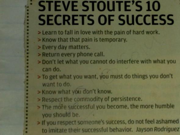 Steve Stoutes 10 Secrets